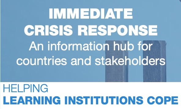 Immediate crisis response - helping learning institutions cope