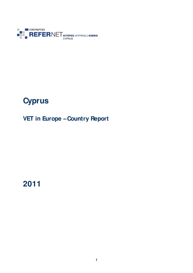 Cyprus: VET in Europe: country report 2011