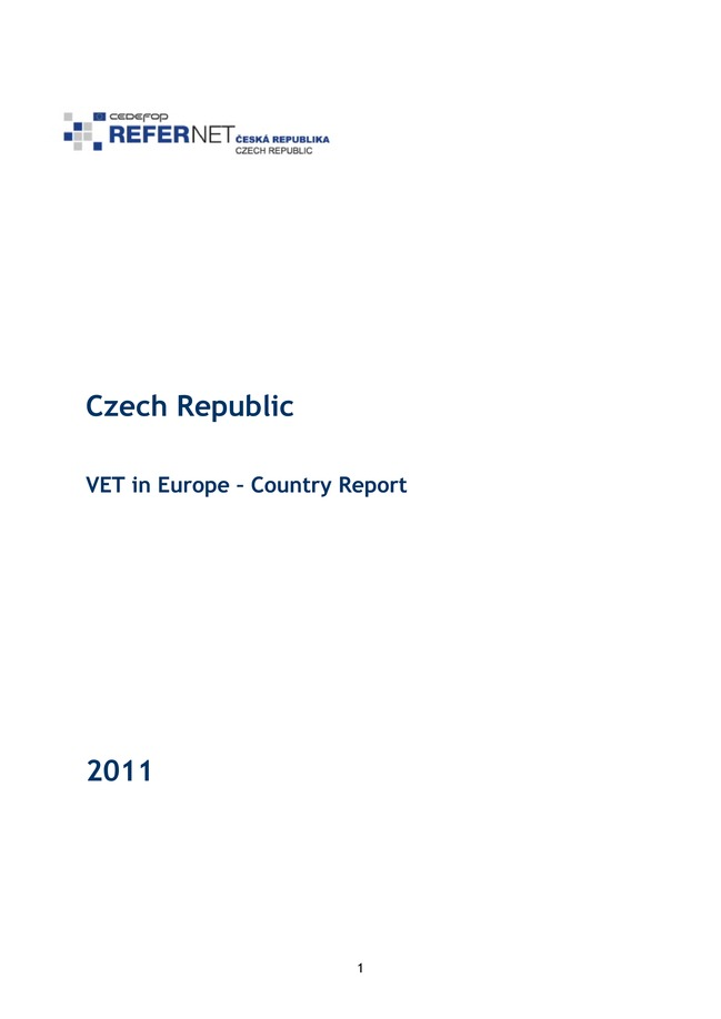 Czech Republic: VET in Europe: country report 2011
