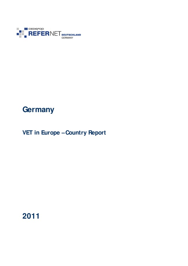 Germany: VET in Europe: country report 2011