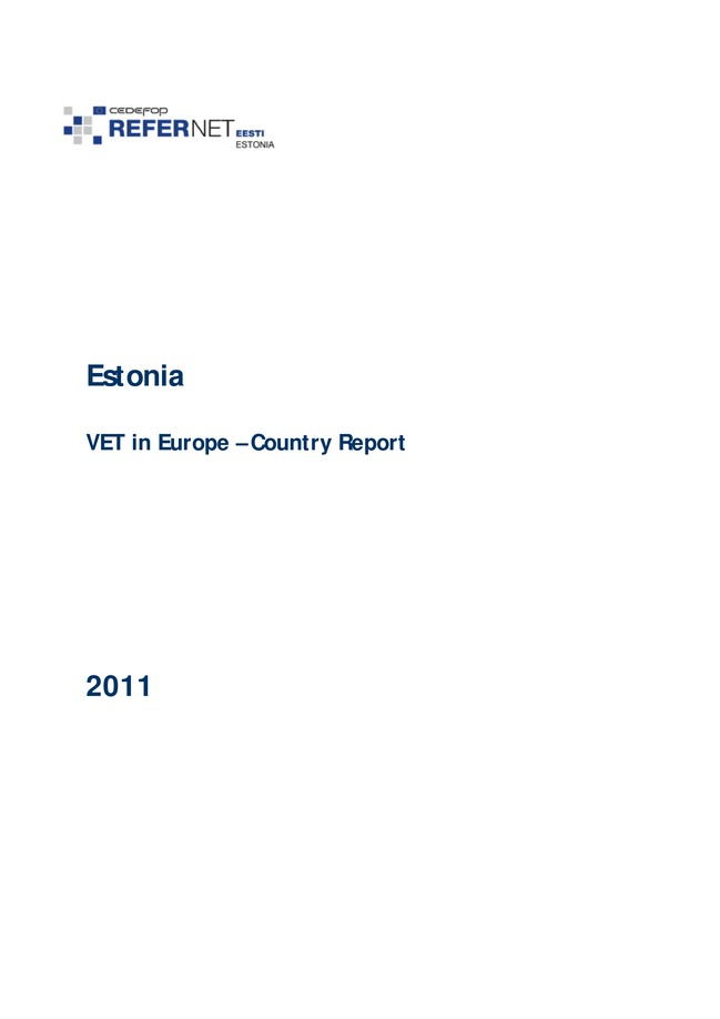 Estonia: VET in Europe: country report 2011