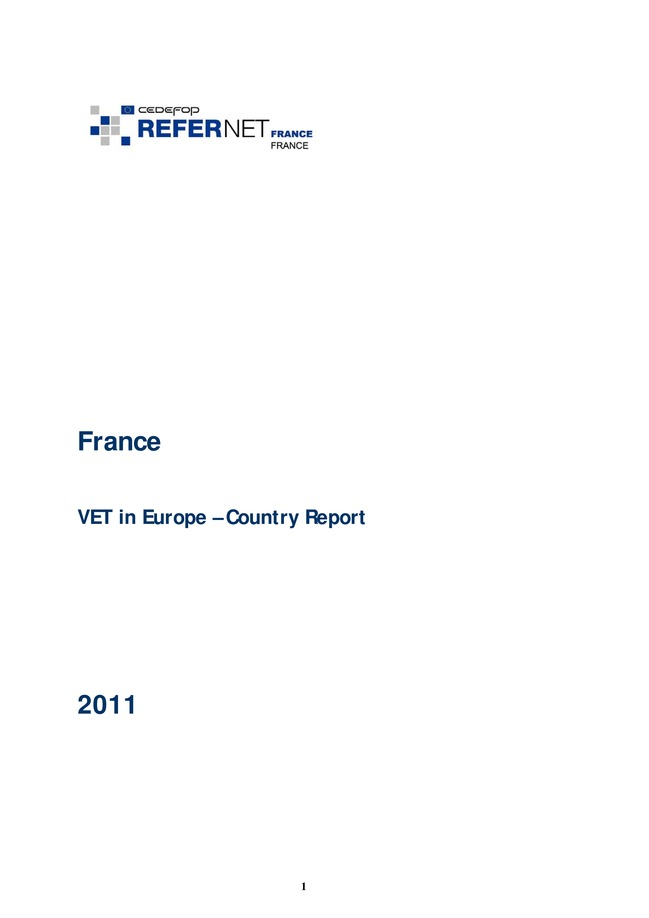 France: VET in Europe: country report 2011