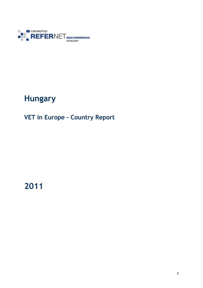 Hungary: VET in Europe: country report 2011