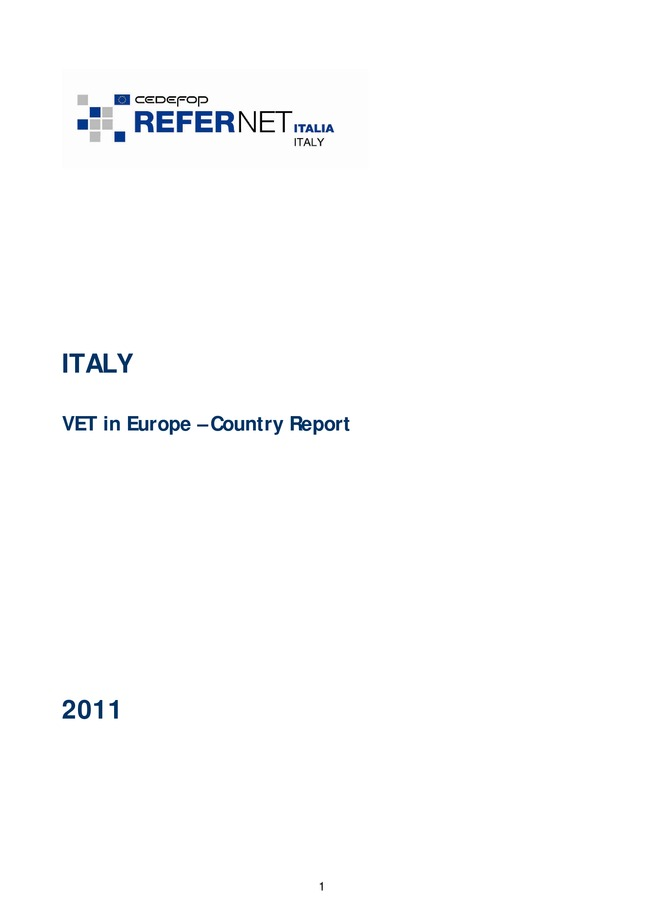 Italy: VET in Europe: country report 2011