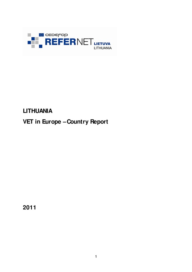 Lithuania: VET in Europe: country report 2011