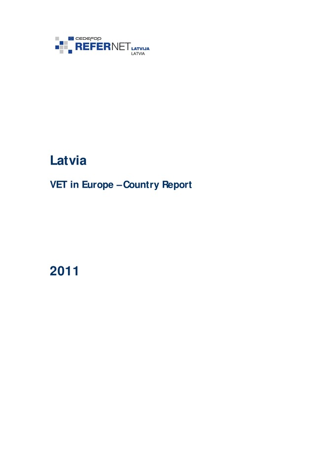 Latvia: VET in Europe: country report 2011