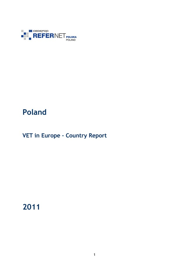 Poland: VET in Europe: country report 2011