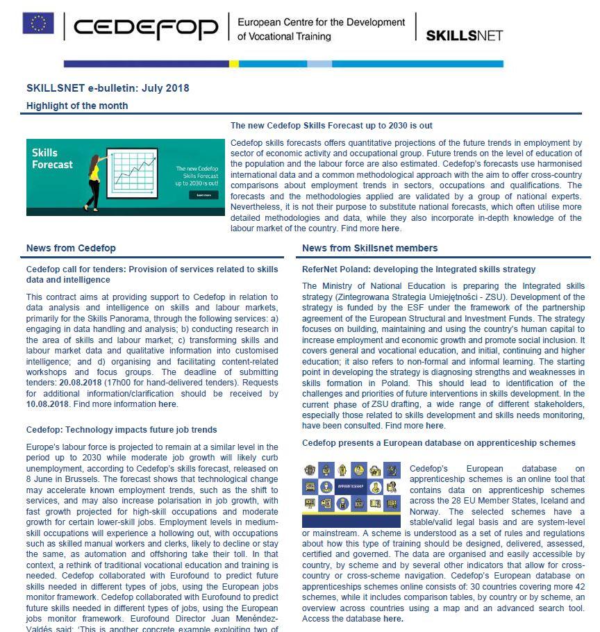 Skillsnet e-bulletin: June 2018