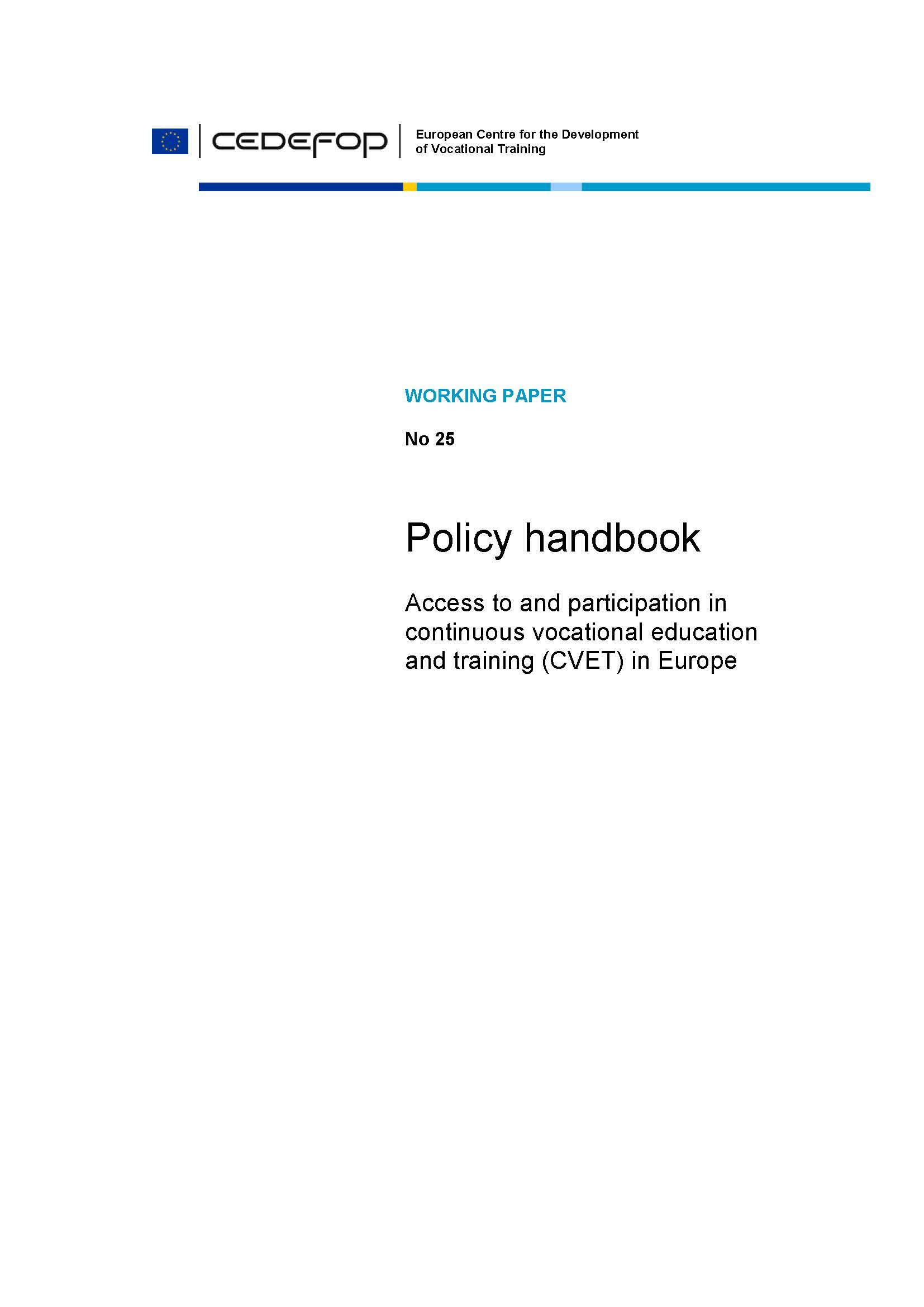 policy handbook cedefop