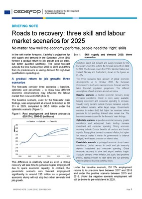 Briefing note - Roads to recovery: three skill and labour market scenarios for 2025
