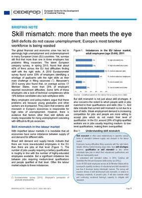 Briefing note - Skill mismatch: more than meets the eye