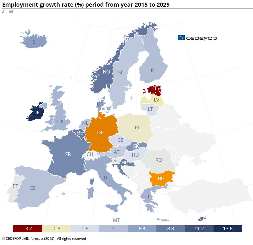 Jobs and skills in Europe – outlook variable | Cedefop