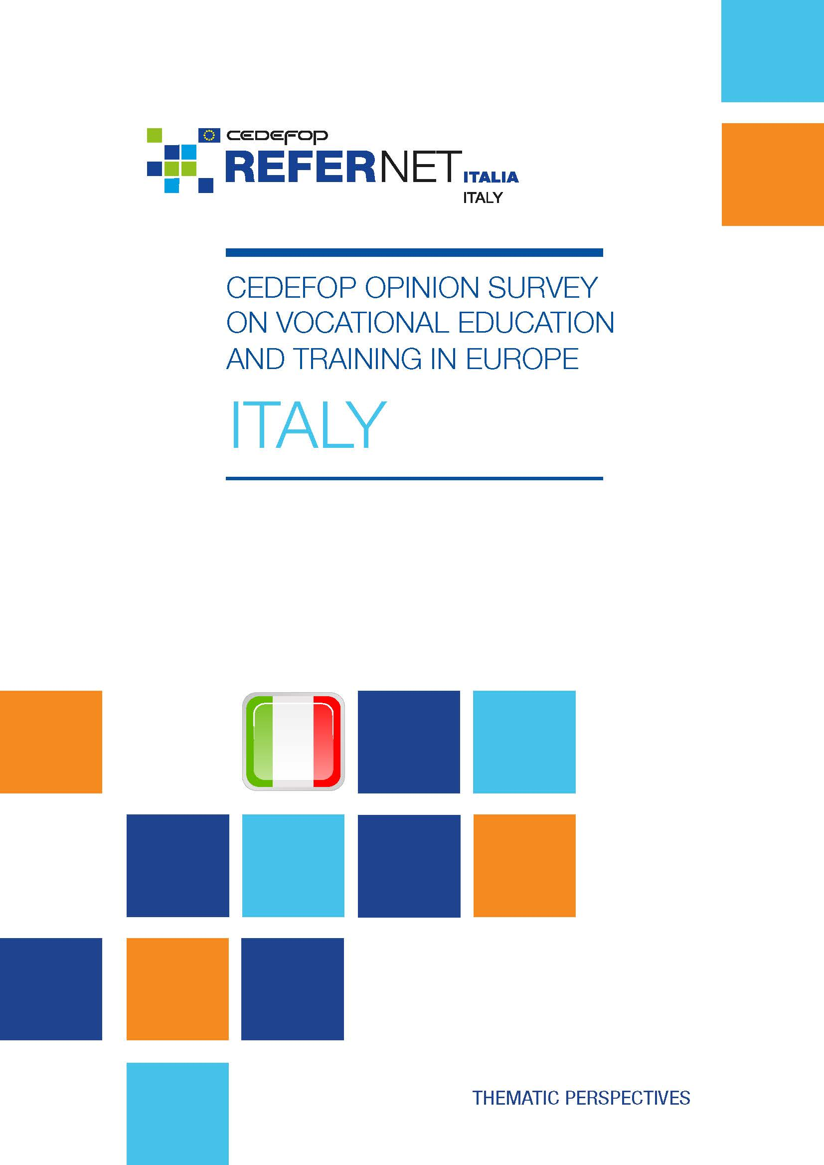 Cedefop public opinion survey on vocational education and training in Europe: Italy
