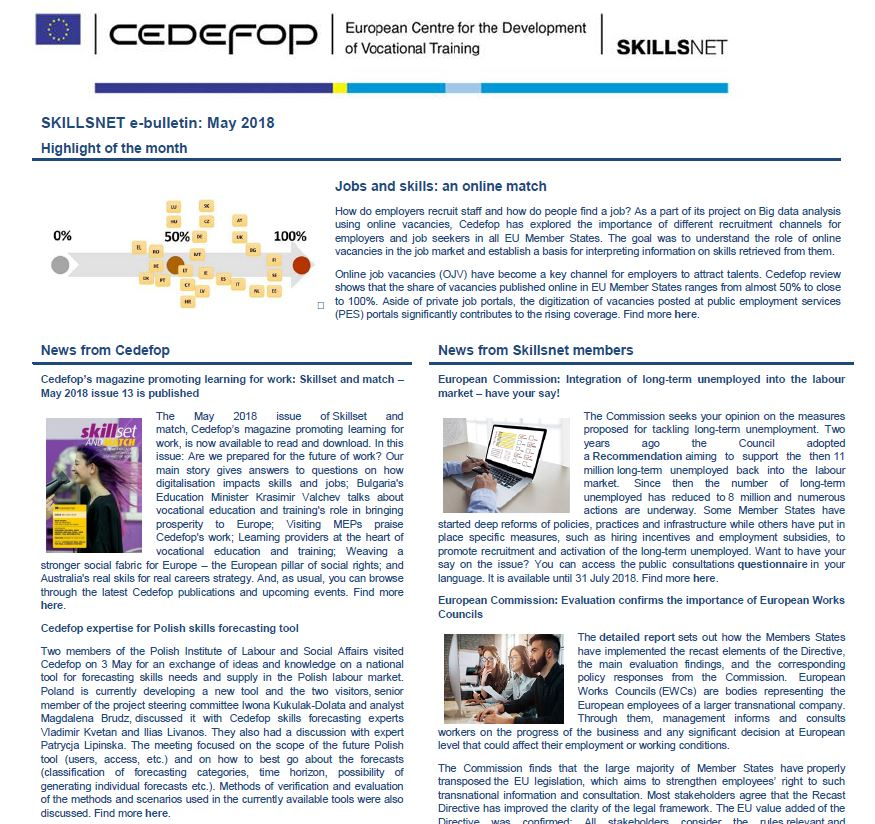 Skillsnet e-bulletin: May 2018