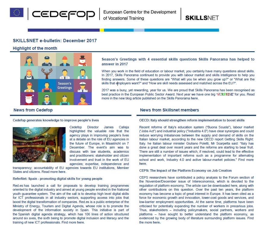 Skillsnet e-bulletin: December 2017