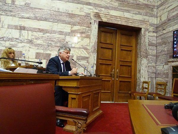 MP Georgios Konstantopoulos asks a question