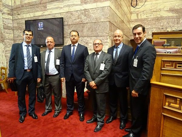 Left to right: Cedefop's K. Pouliakas, L. Zahilas, Education Deputy Minister G. Stylios, Cedefop's, J. Calleja, L. Tosounidis and G. Paraskevaidis