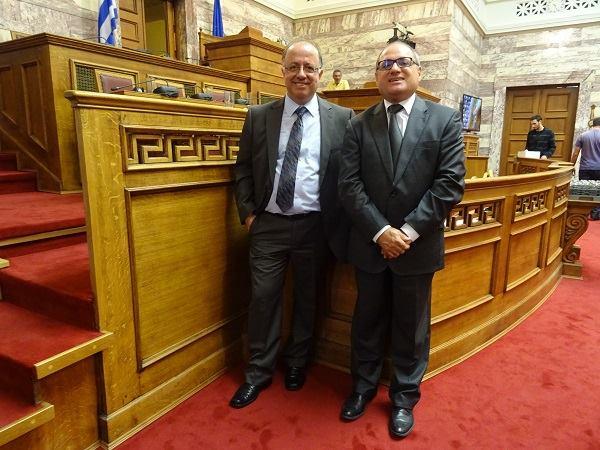 Cedefop's L. Zahilas (l) and J. Calleja