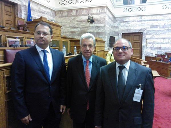 Left to right: Education Deputy Minister Georgios Stylios, Education Issues Committee chair Spyros Taliadouros and Cedefop Director James Calleja