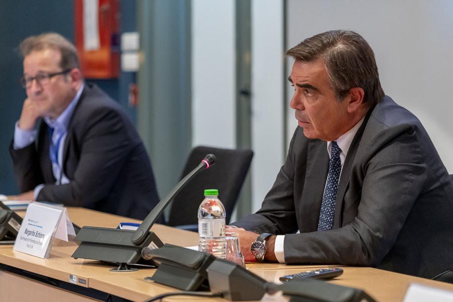 European Commission Vice President Margaritis Schinas and Cedefop Executive Director Jürgen Siebel
