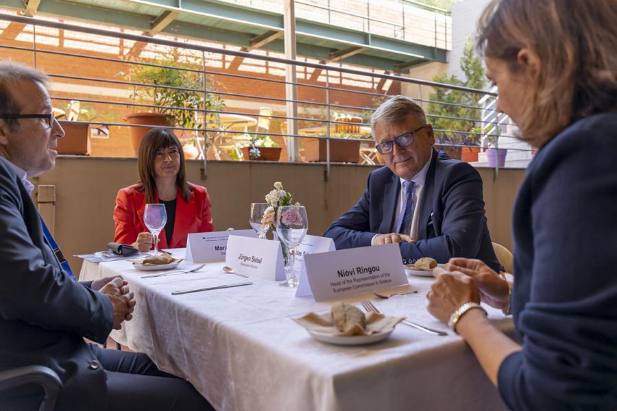 European Commission Vice President Schinas and Commissioner Schmit visit Cedefop