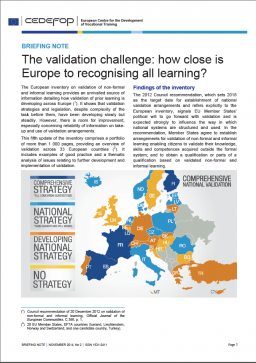 The validation challenge: how close is Europe to recognising all learning? cover