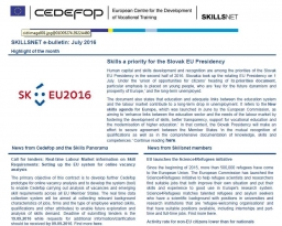 Skillsnet e-bulletin: July 2016 issue