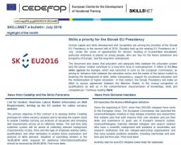 Skillsnet e-bulletin: July 2016 issue
