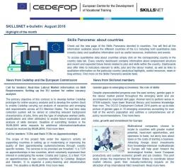 Skillsnet e-bulletin: August 2016 issue