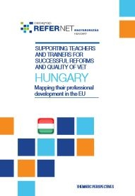 Cover Supporting teachers and trainers Hungary