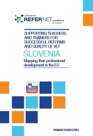 Cover Supporting teachers and trainers Slovenia