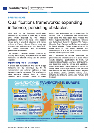 Qualifications frameworks: expanding influence, persisting obstacles cover
